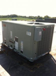 Trane Commercial rooftop A/C unit.