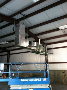 The is the new XR95 gas furnace that we installed in the new Sun Valley Feed Mill