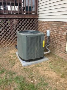 This is a XR15 heat pump system. This Energy Star rated system will get the homeowners a tax credit and reduce their heating and cooling cost approximately 48 percent.