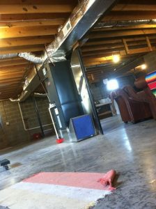 This is a typical installation of a duct system constructed by R&R Heating & Air Conditioning.