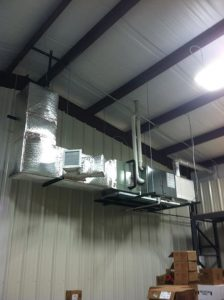 This is the XV95 Trane furnace completely finished.