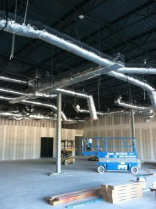 This is the installation of one of our custom built duct systems for a commercial application. Everything looks great.